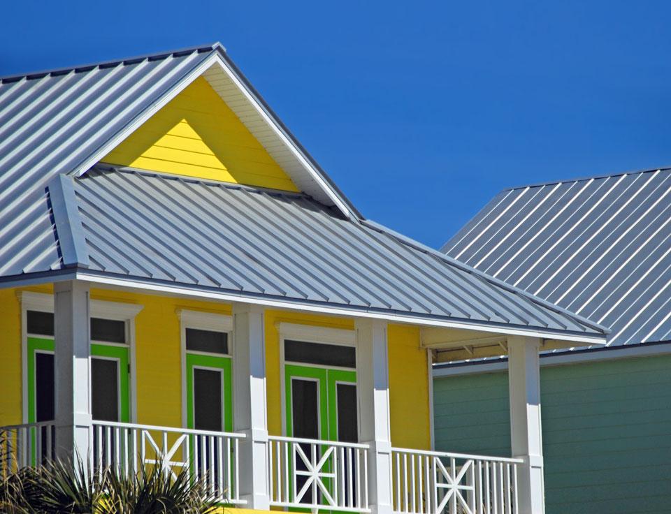 Yellow green coastal home